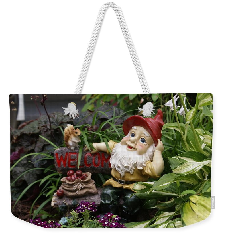 Yardart Weekender Tote Bag featuring the photograph Welcome by Heidi Poulin