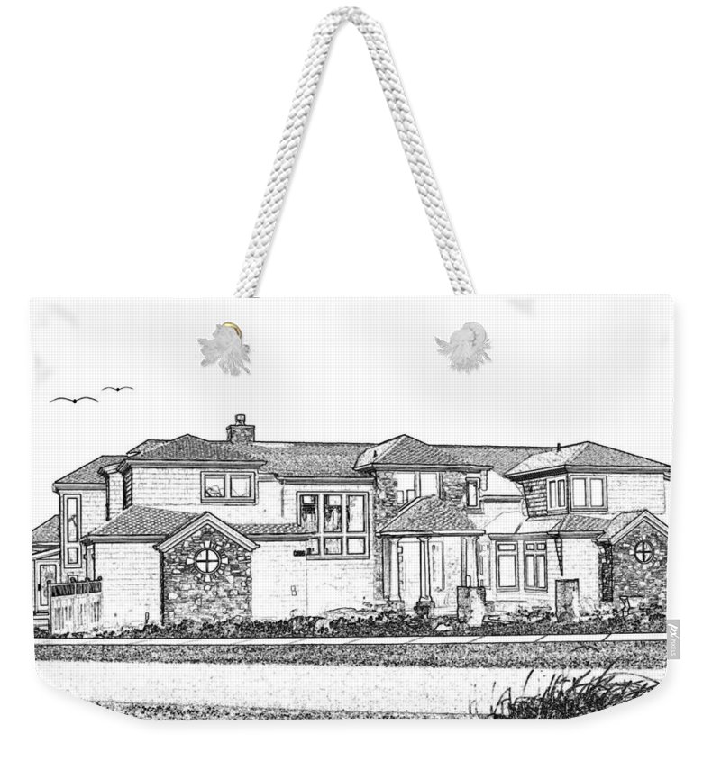 Welcome Home Weekender Tote Bag featuring the digital art Welcome Home 3 by Will Borden