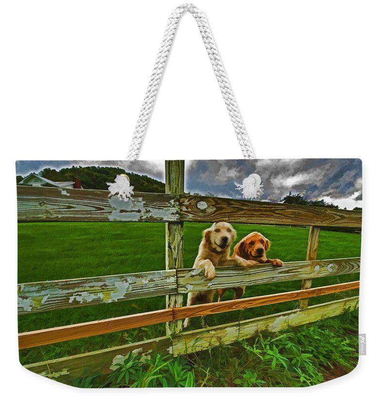 Landscape Weekender Tote Bag featuring the photograph Welcome Home by Dennis Baswell