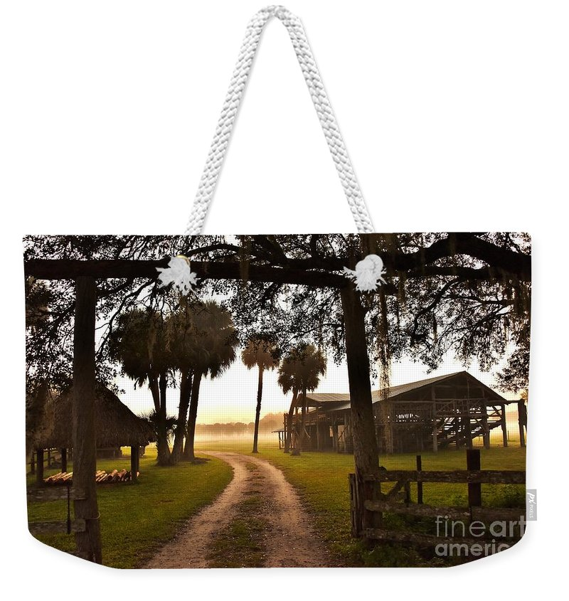 Home On The Range Weekender Tote Bag featuring the photograph Home On The Range by Lisa Renee Ludlum