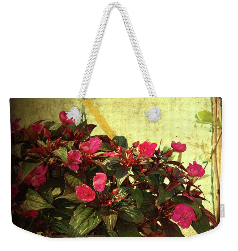 Flower Pot Weekender Tote Bag featuring the photograph Welcome Home by Susanne Van Hulst