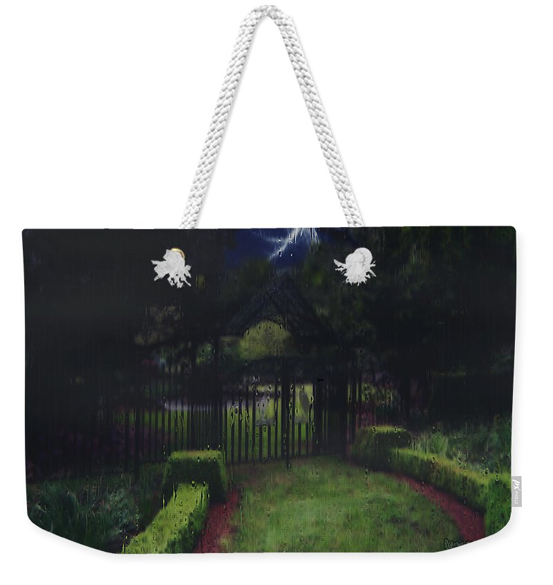 Landscape Weekender Tote Bag featuring the painting Welcome To Dudleytown by RC DeWinter