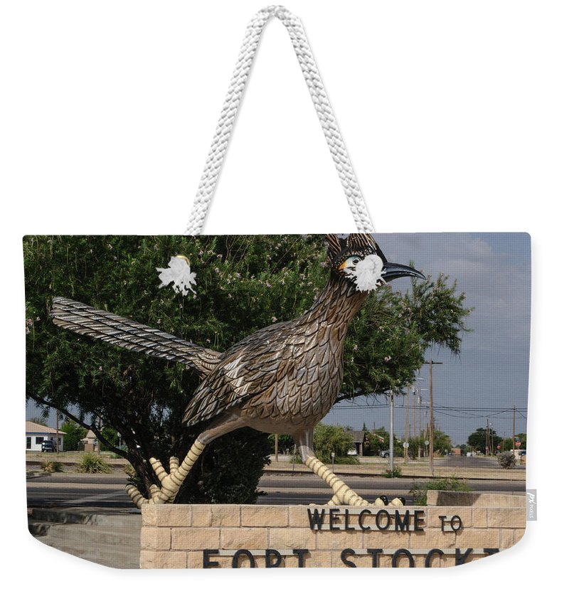 Fort Stockton Weekender Tote Bag featuring the photograph Welcome To Fort Stockton by Tikvah's Hope