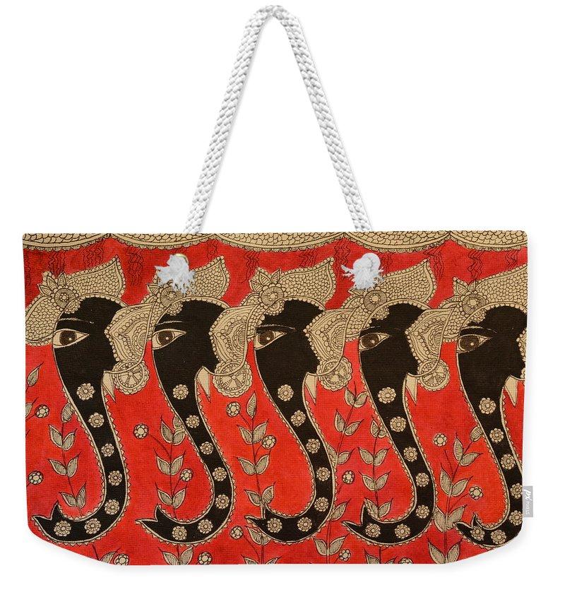 Madhubani Weekender Tote Bags