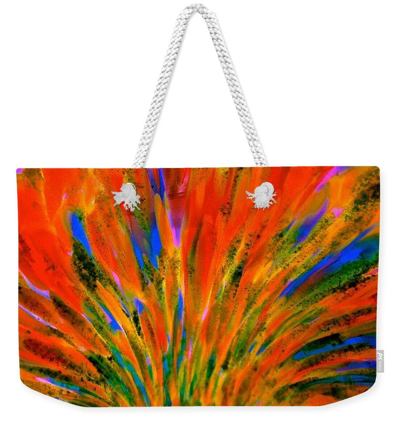 Abstract Weekender Tote Bag featuring the photograph Well Of Colors by Tim G Ross