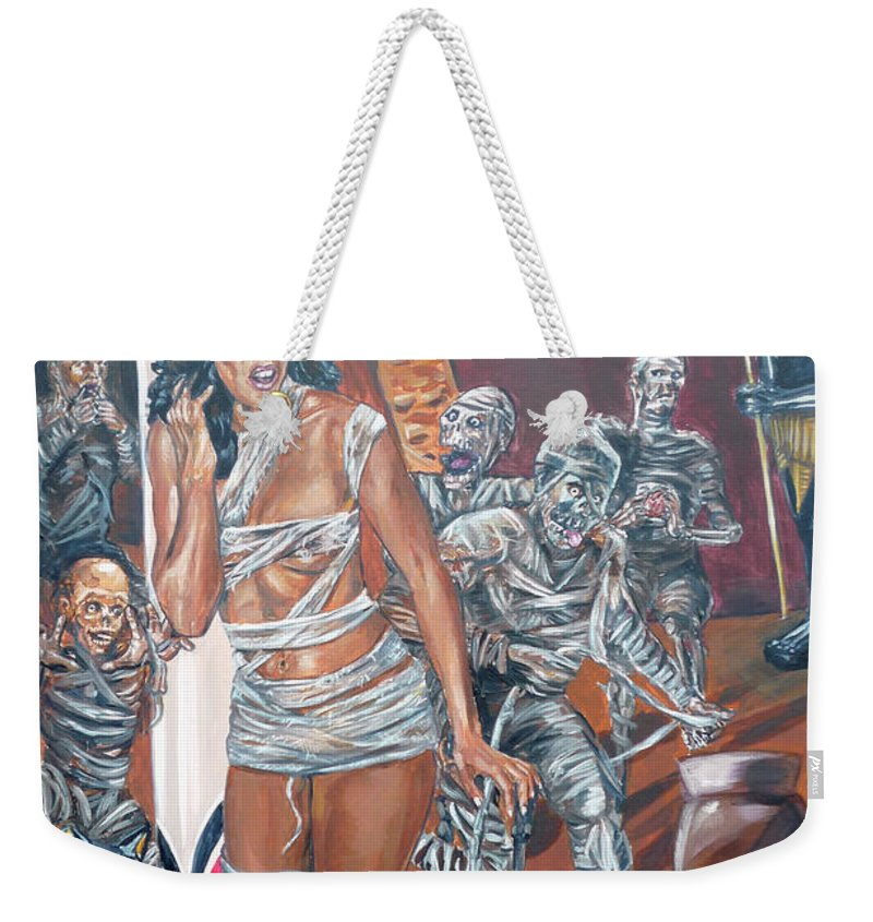 Egypt Weekender Tote Bag featuring the painting Well Preserved by Bryan Bustard