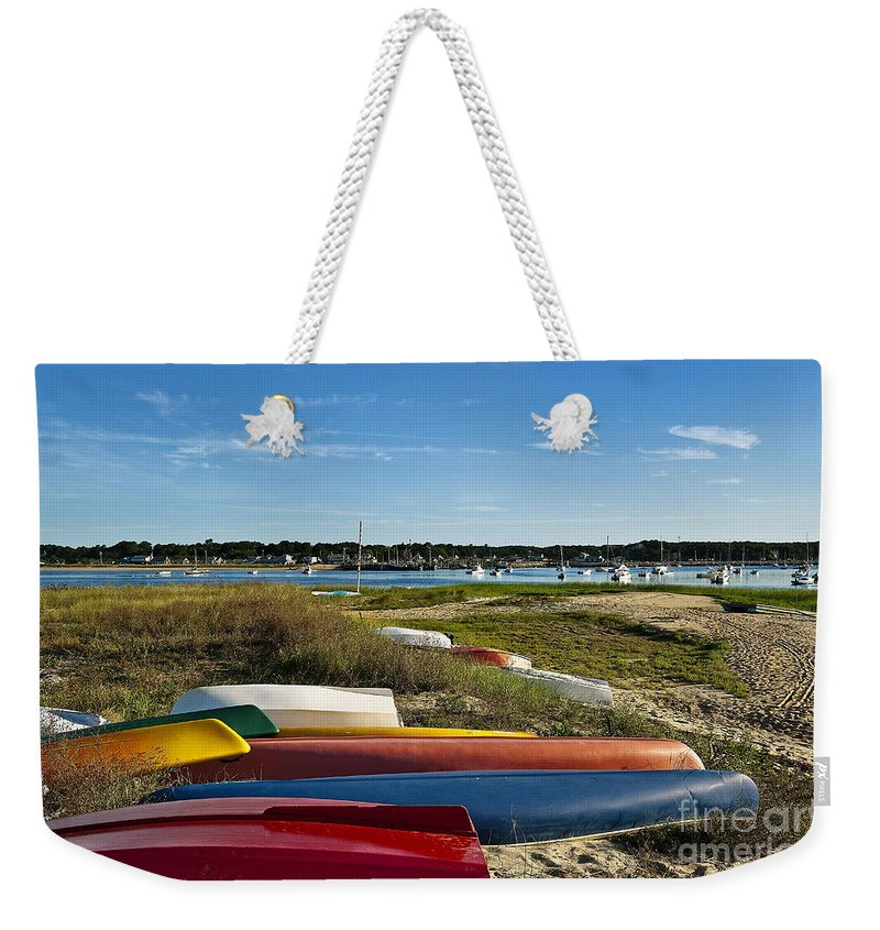 Cape Cod Weekender Tote Bag featuring the photograph Wellfleet Harbor Cape Cod by John Greim