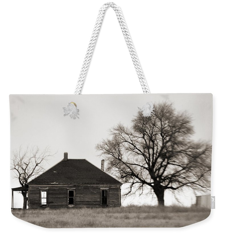 Texas Weekender Tote Bag featuring the photograph West Texas Winter by Marilyn Hunt