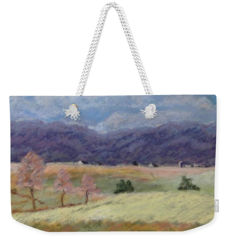 Landscape Weekender Tote Bag featuring the pastel West Virginia Landscape       by Pat Snook