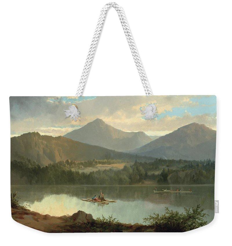 Mountain Lake Weekender Tote Bags