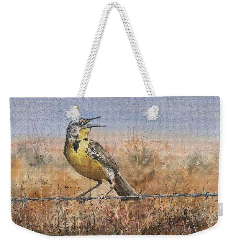Meadowlark Weekender Tote Bags