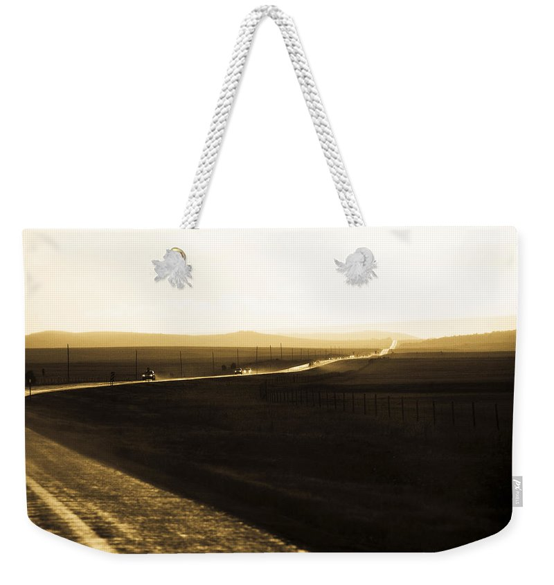 Rain Weekender Tote Bag featuring the photograph Western Rain by Marilyn Hunt