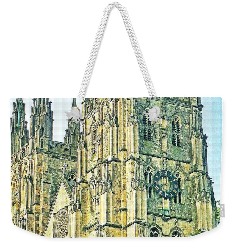 Connie Handscomb Weekender Tote Bag featuring the photograph Westminster Abbey Postcard by Connie Handscomb