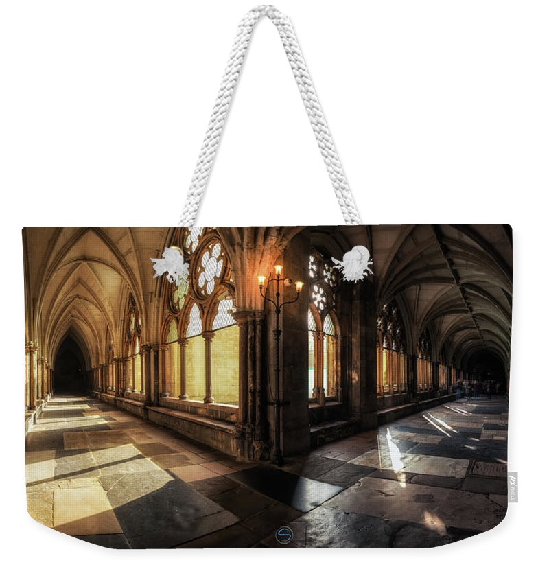 Westminster Weekender Tote Bag featuring the photograph Westminster Abbey by Sergio Nevado