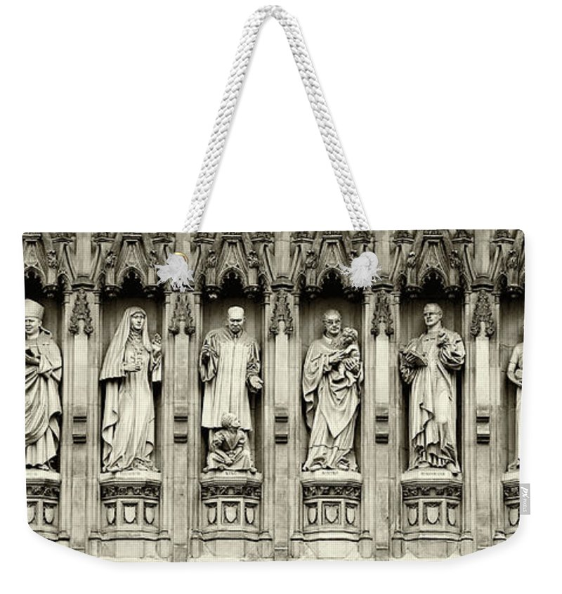Westminster Abbey Weekender Tote Bag featuring the photograph Westminster Martyrs Memorial - 1 by Stephen Stookey