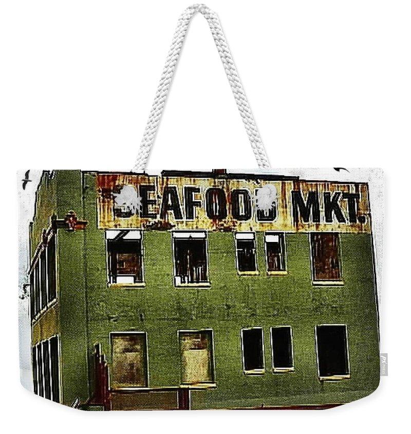 Seafood Weekender Tote Bag featuring the photograph Westport Washington Seafood Market by Sadie Reneau