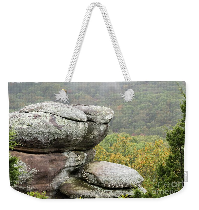 Garden Of The Gods Weekender Tote Bag featuring the photograph Wet Sandstone by Andrea Silies