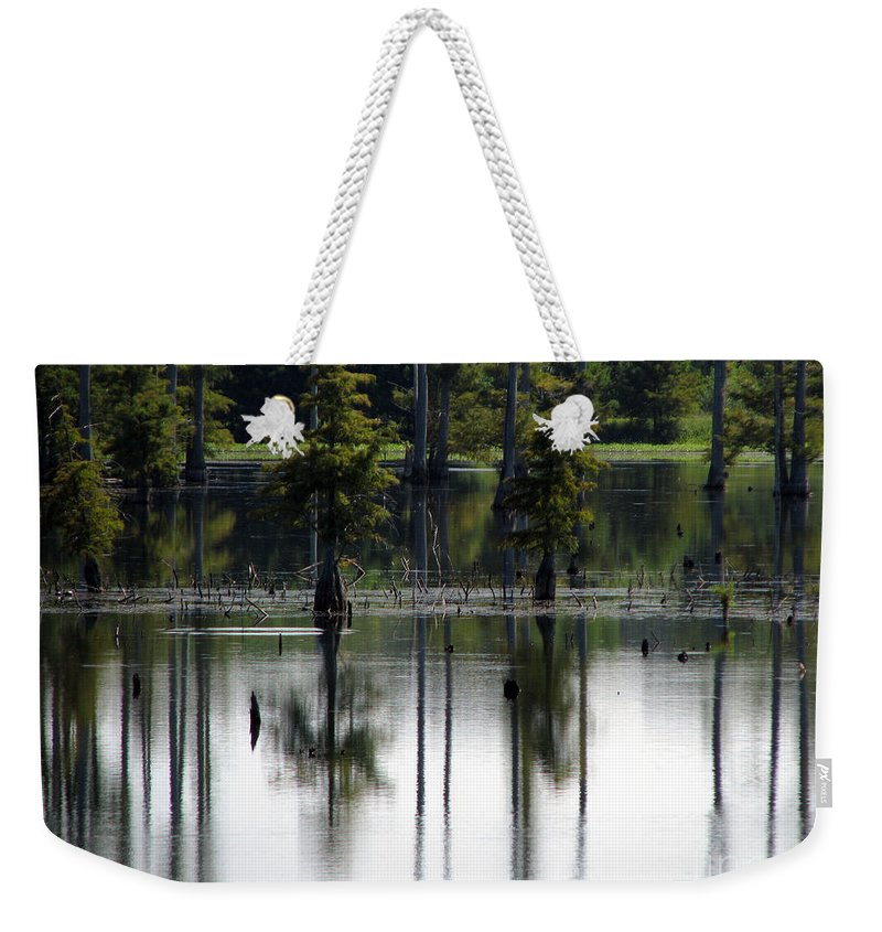 Wetlands Weekender Tote Bag featuring the photograph Wetland by Amanda Barcon