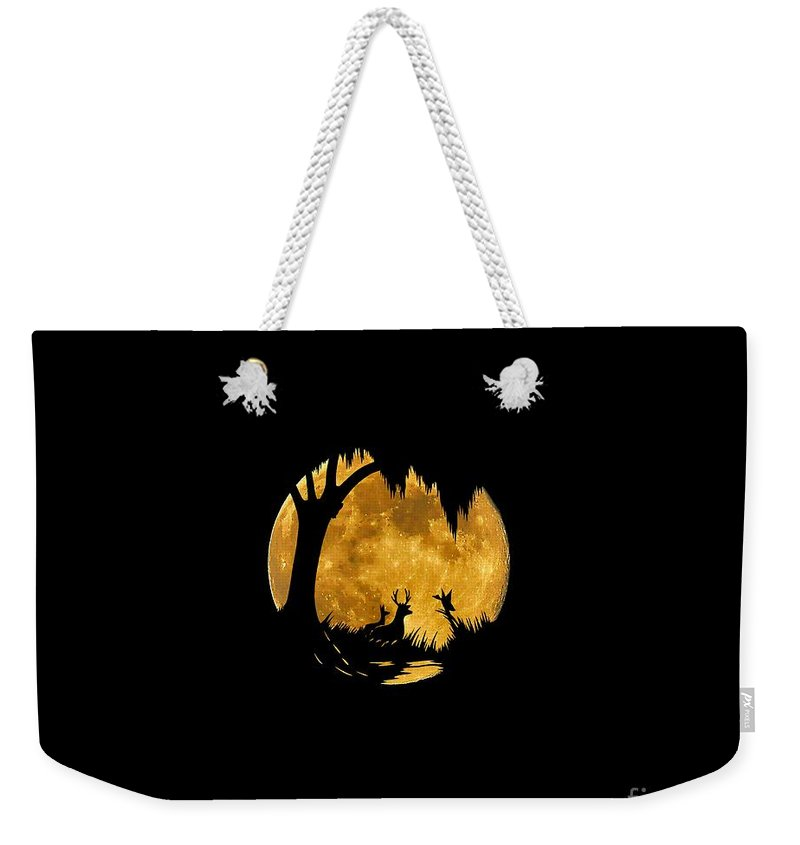 Wildlife Weekender Tote Bag featuring the photograph Wetland Wildlife Massive Moon .png by Al Powell Photography USA