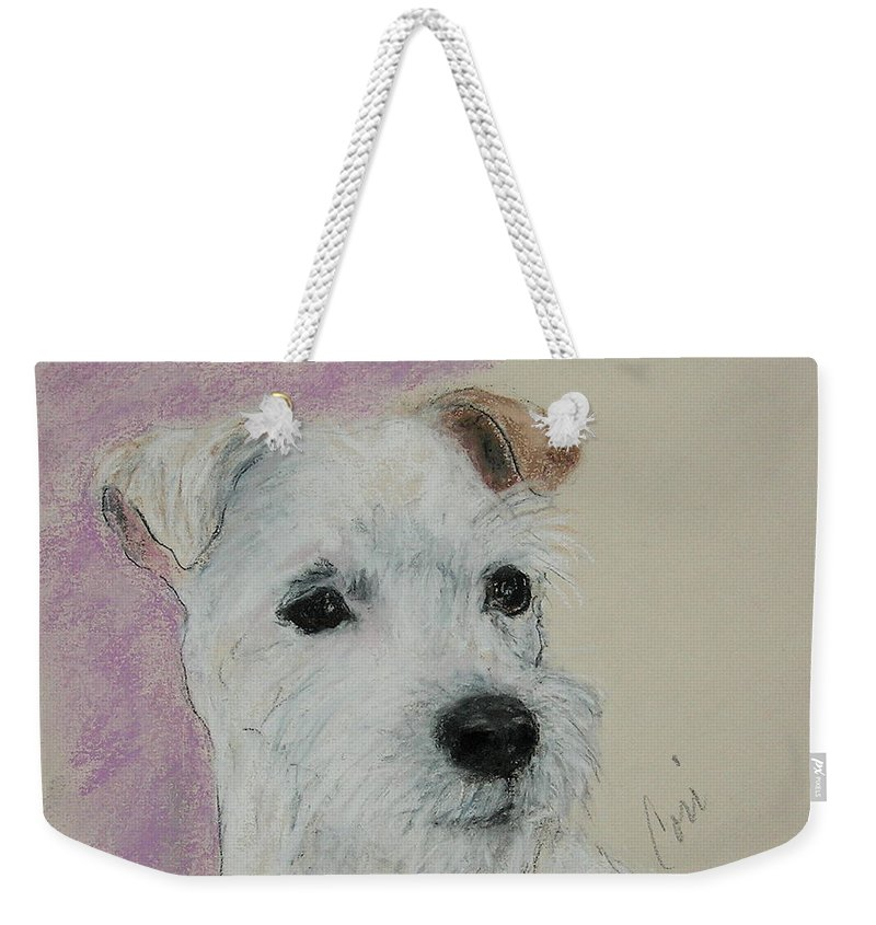 Pastel Weekender Tote Bag featuring the drawing What A Riot by Cori Solomon