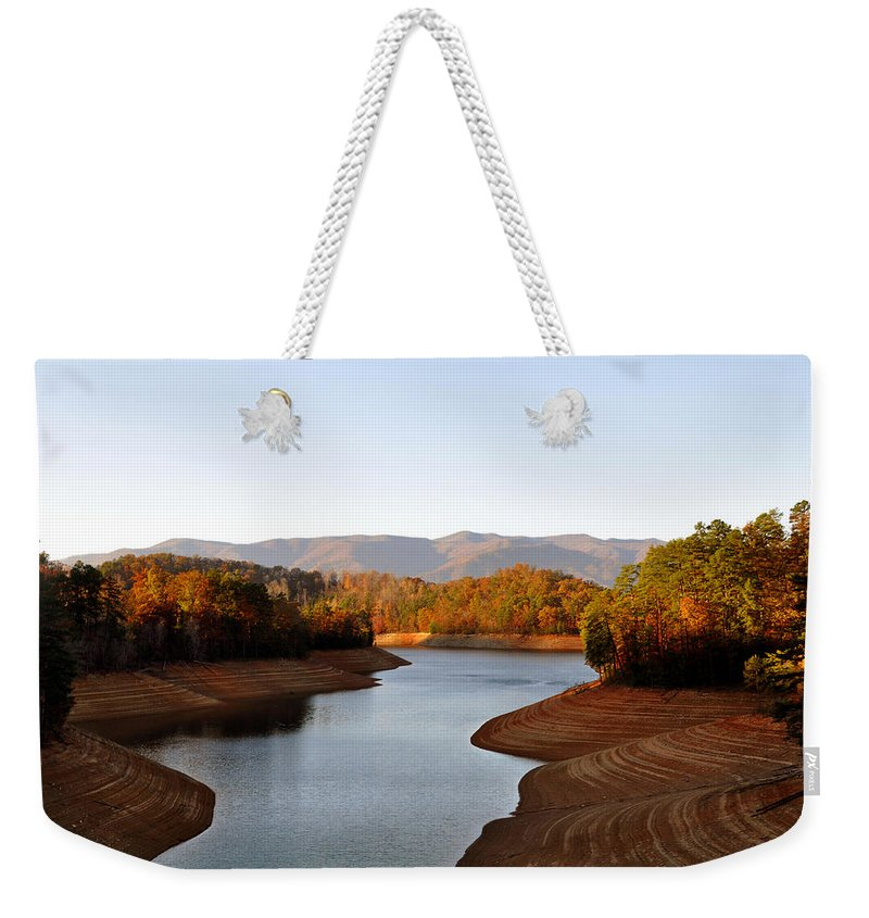 Tennessee Weekender Tote Bag featuring the photograph What A View by Brittany Horton