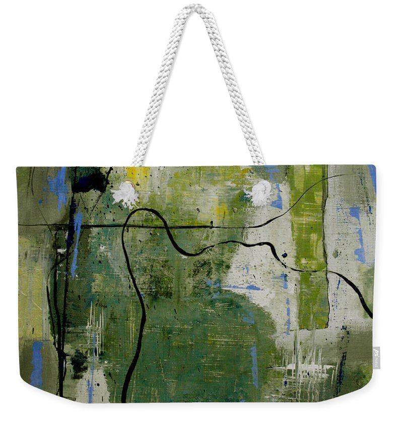 Abstract Weekender Tote Bag featuring the painting What Counts Is A New Creation by Ruth Palmer