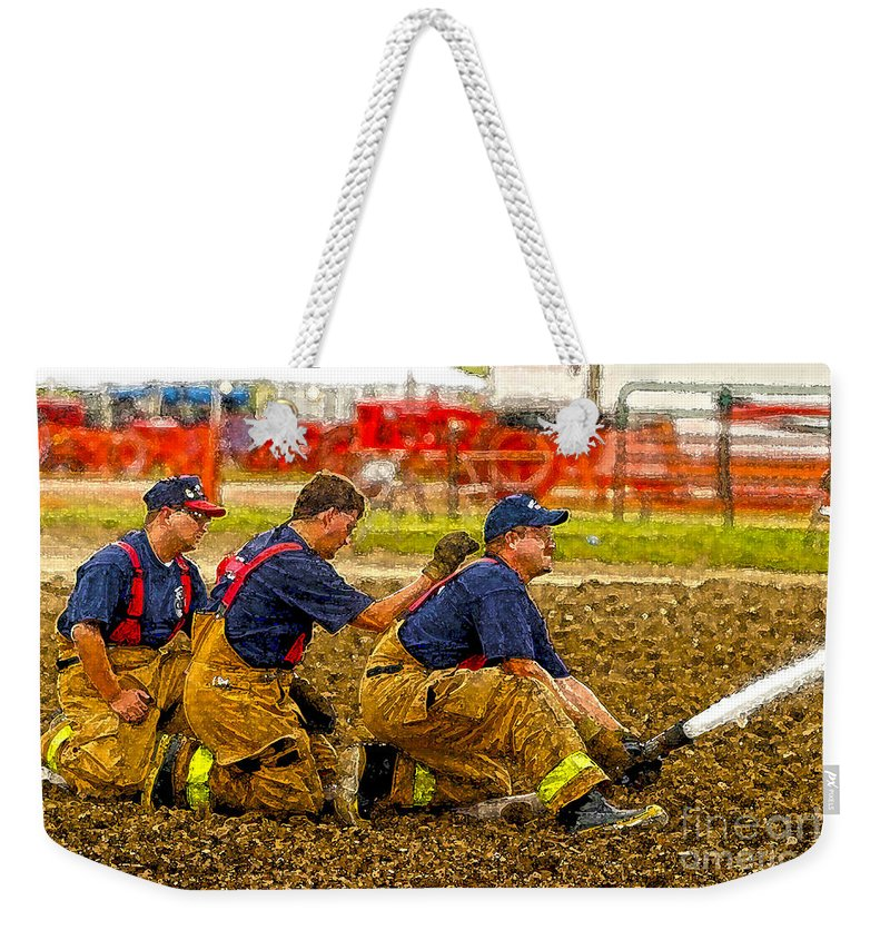 Kooldnala Weekender Tote Bag featuring the photograph What Fire by Alan Look