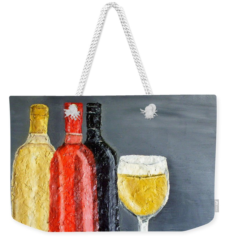 Still Life Paintings Weekender Tote Bag featuring the painting What Flavor Would You Like by Leslye Miller