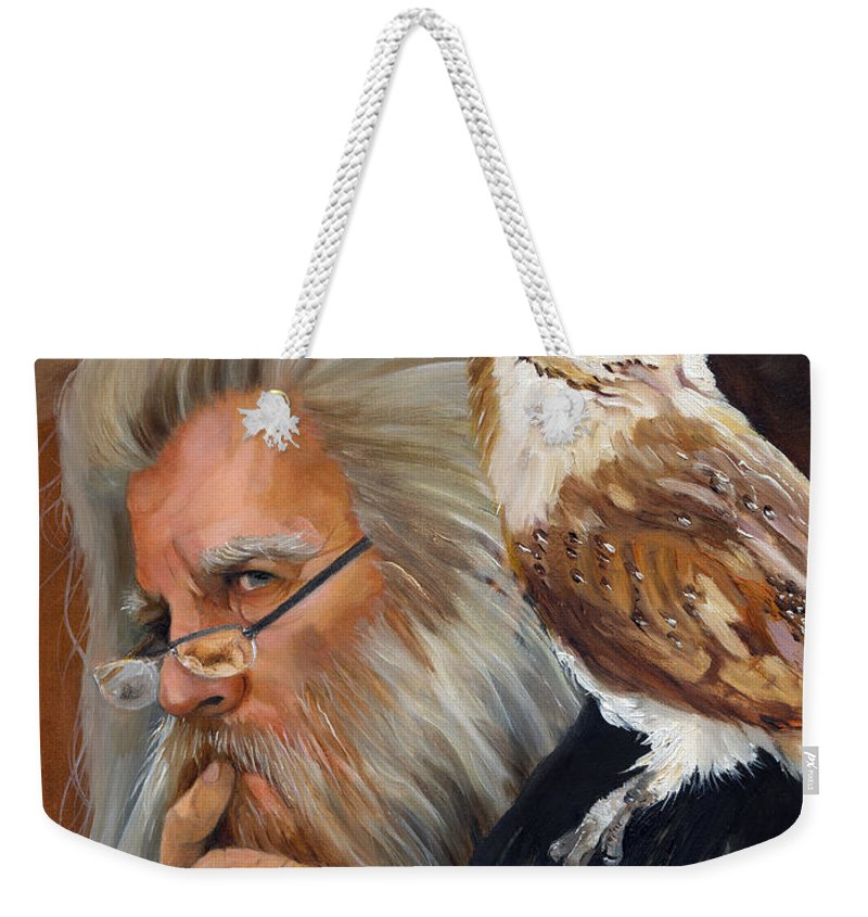 Wizard Weekender Tote Bag featuring the painting What If... by J W Baker