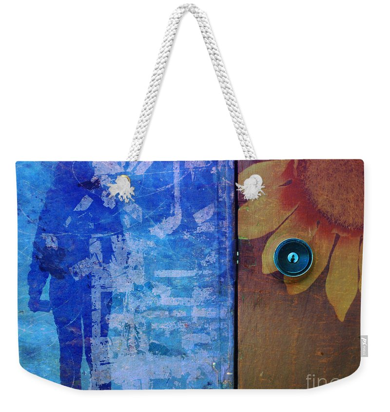Texture Weekender Tote Bag featuring the photograph What If She Can Not Tell You Where It Hurts by Tara Turner