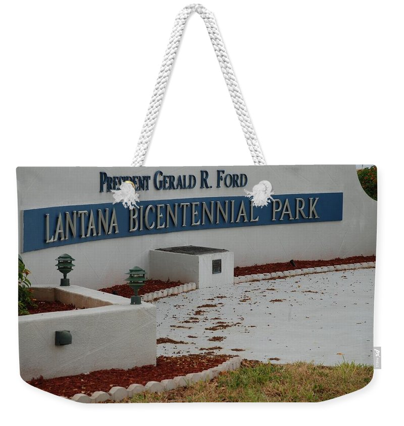 Landscapes Weekender Tote Bag featuring the photograph What It Says by Rob Hans