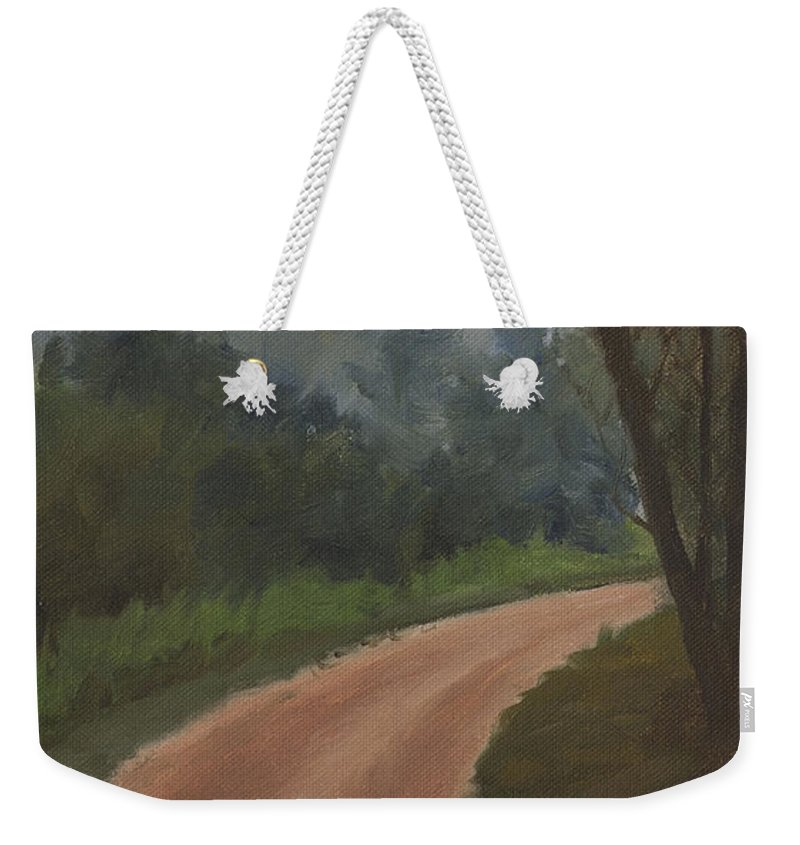 What Lies Ahead Weekender Tote Bag featuring the painting What Lies Ahead by Mandar Marathe