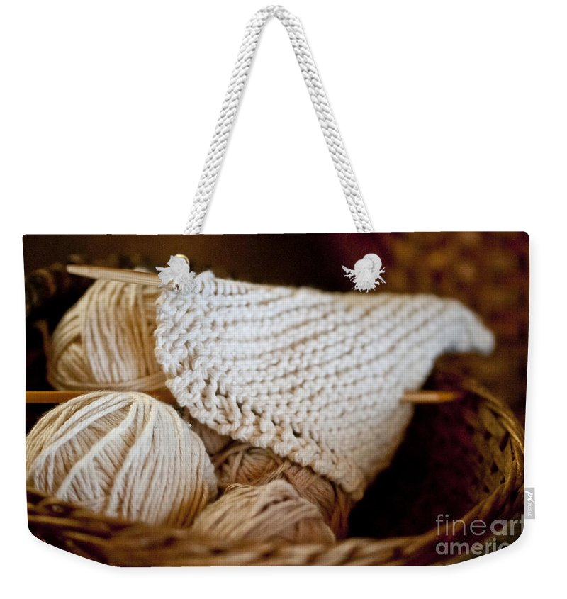 Yarn Weekender Tote Bag featuring the photograph What Will It Be by Wilma Birdwell