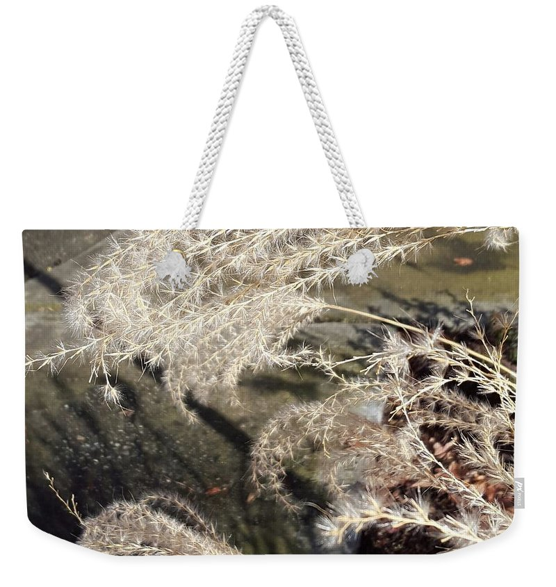 Weekender Tote Bag featuring the photograph Wheat Feathers by Melody Schuster