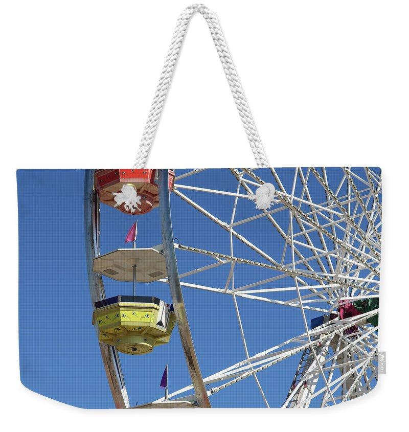 Ferris Wheel Weekender Tote Bag featuring the photograph Wheel by Jim Wilson