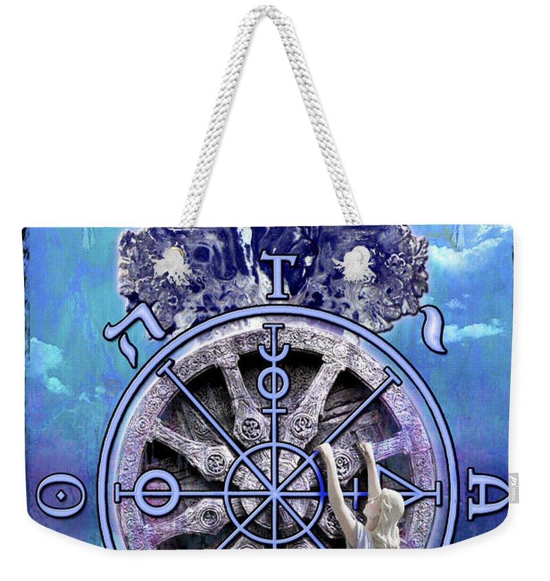 Divine Weekender Tote Bag featuring the digital art Wheel Of Fortune by Tammy Wetzel