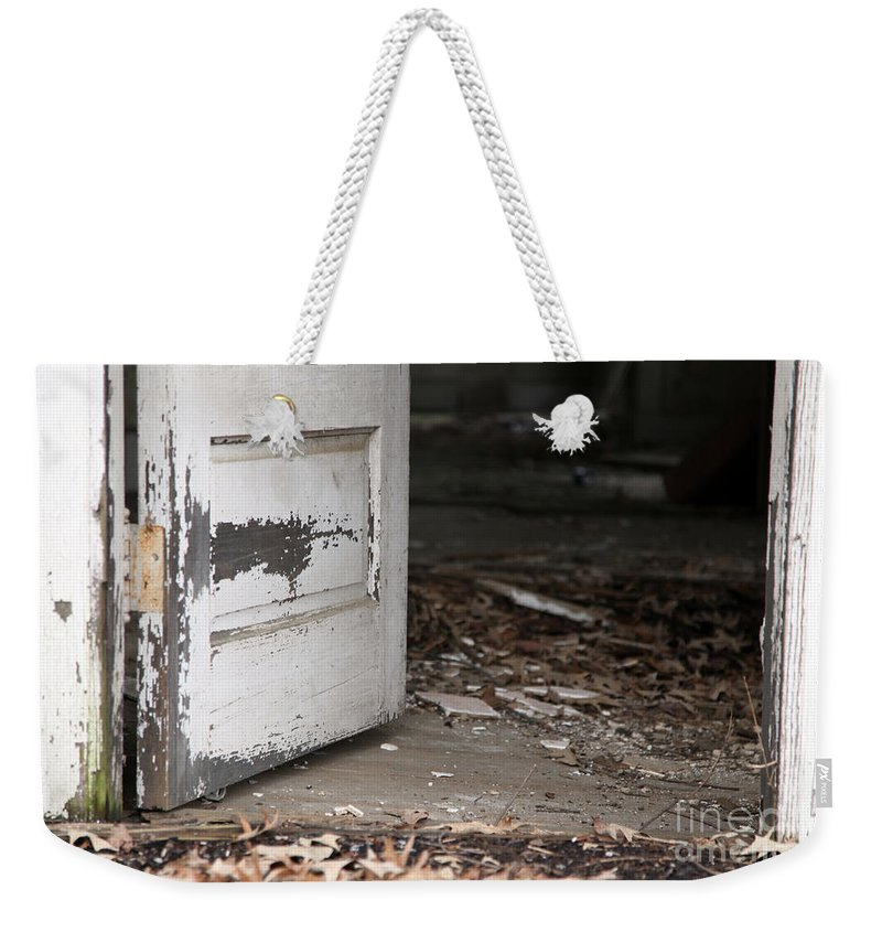 Old Weekender Tote Bag featuring the photograph When Did She Go by Amanda Barcon