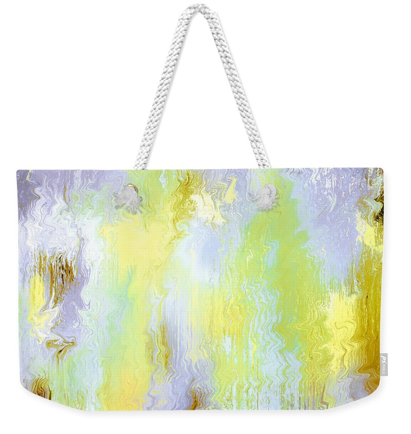 Abstract Weekender Tote Bag featuring the painting When I Am With You by Wayne Cantrell