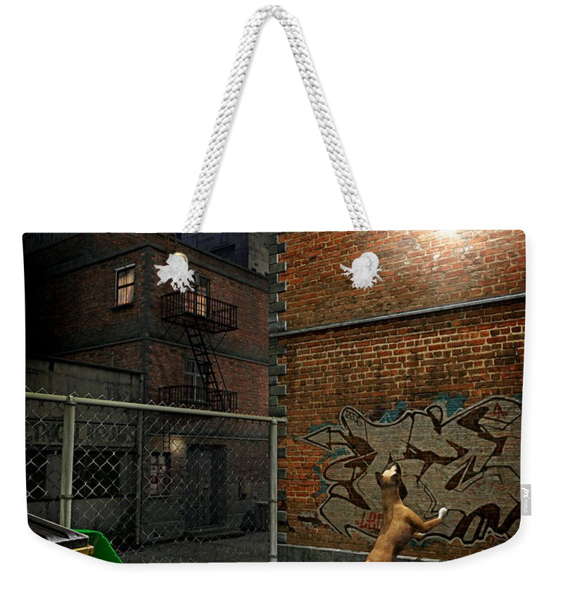 City Weekender Tote Bag featuring the digital art When Stars Fall In The City by Cynthia Decker