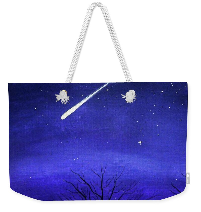 Shooting Star Weekender Tote Bags