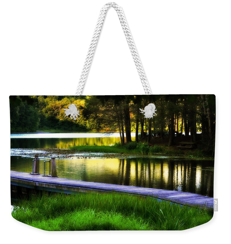Summer Glow Weekender Tote Bag featuring the photograph When Summer Glows And Crickets Chirp by Lj Lambert