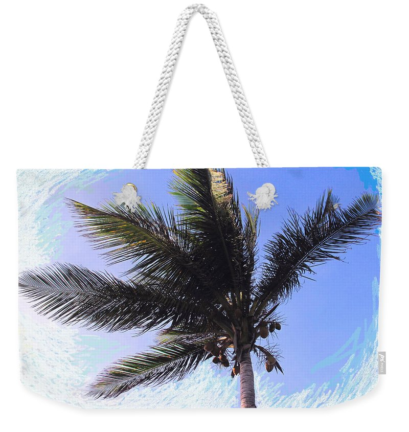 Palm Weekender Tote Bag featuring the photograph Where Coconuts Come From by Ian MacDonald