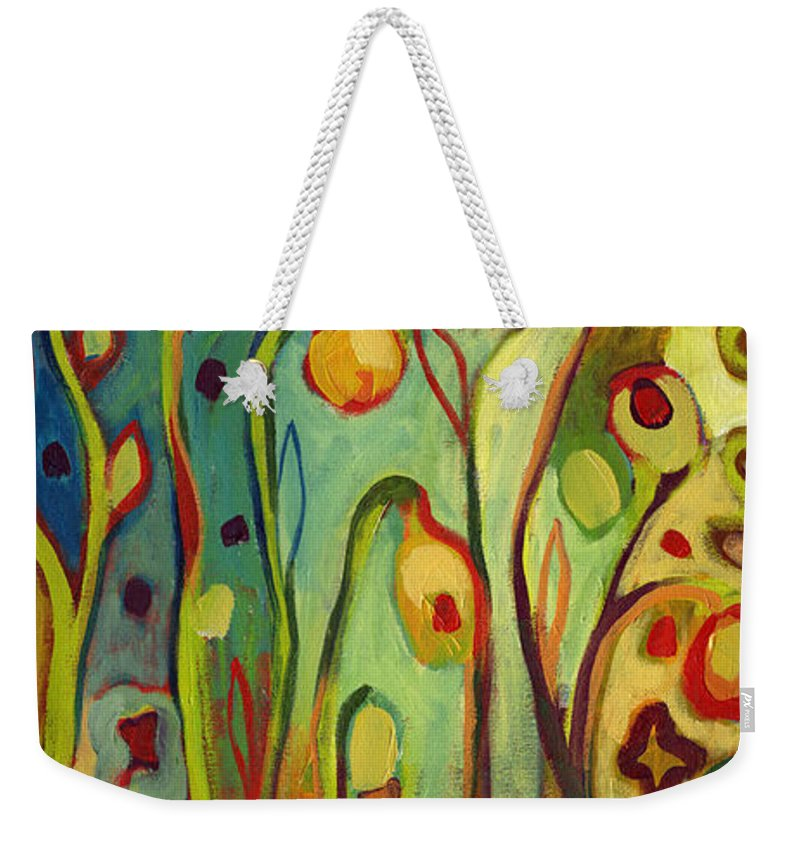 Floral Weekender Tote Bag featuring the painting Where Does Your Garden Grow by Jennifer Lommers