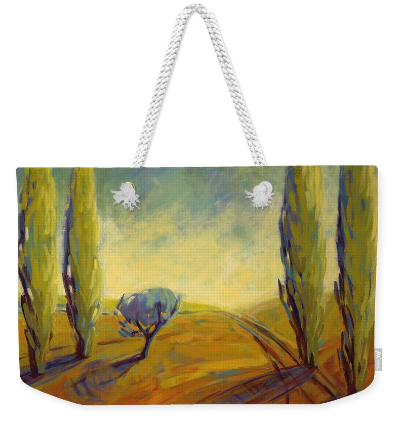 Contemporary Weekender Tote Bag featuring the painting Where Evening Begins 2 by Konnie Kim