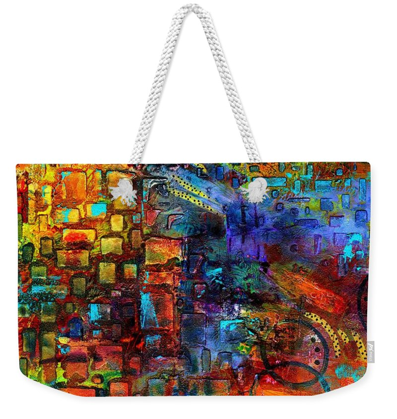 Acrylic Weekender Tote Bag featuring the painting Where Healing Waters Flow by Angela L Walker