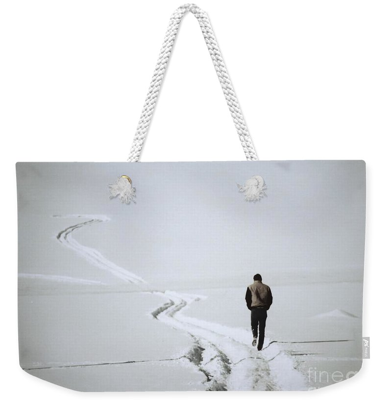 Landscape Weekender Tote Bag featuring the photograph Where To by Sharon Eng