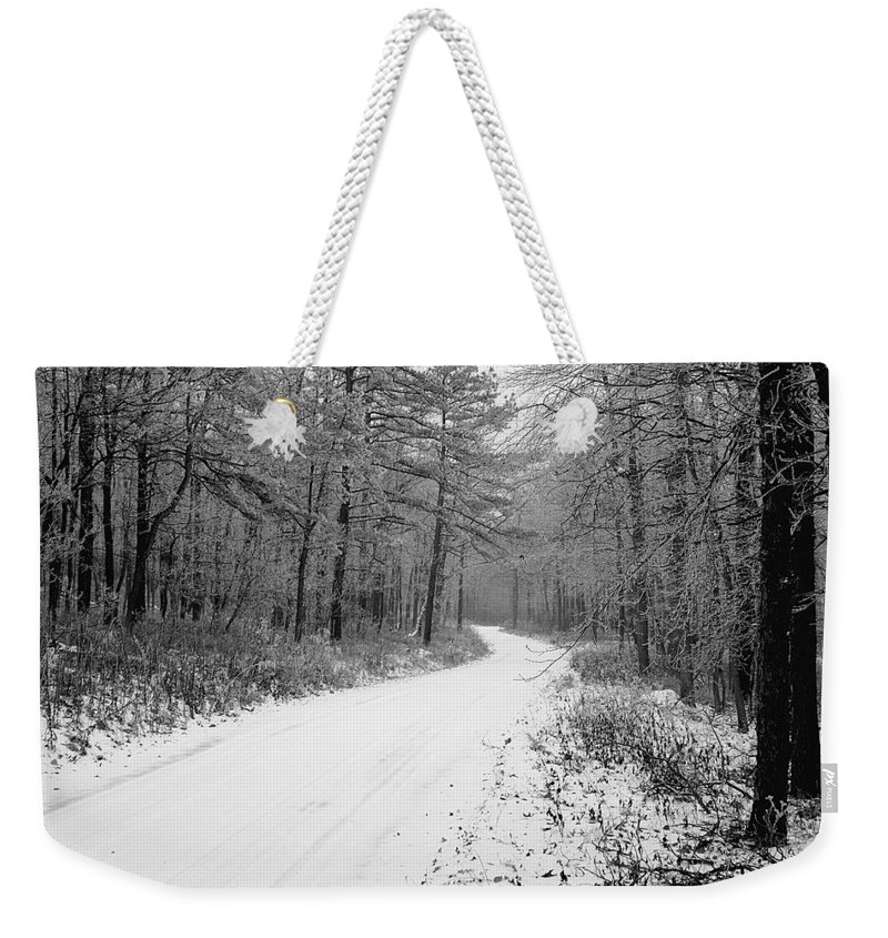 Winter Weekender Tote Bag featuring the photograph Where Will It Lead by Jean Macaluso