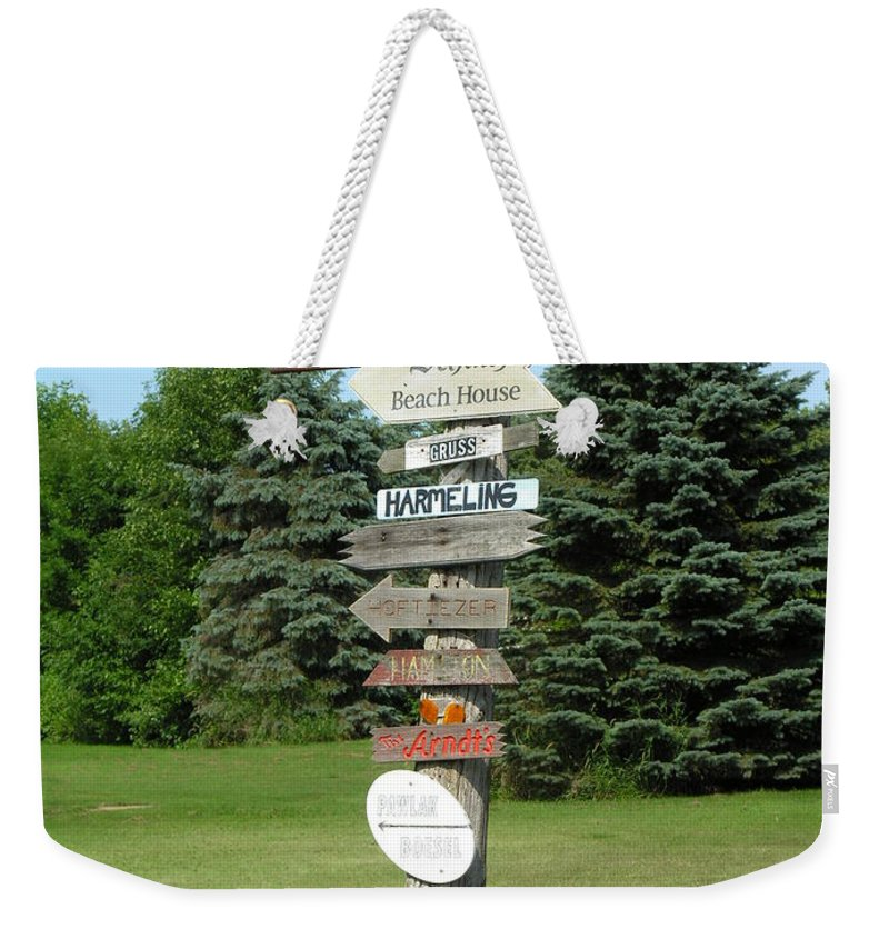Direction Weekender Tote Bag featuring the photograph Which Way Do I Go by Diane Greco-Lesser