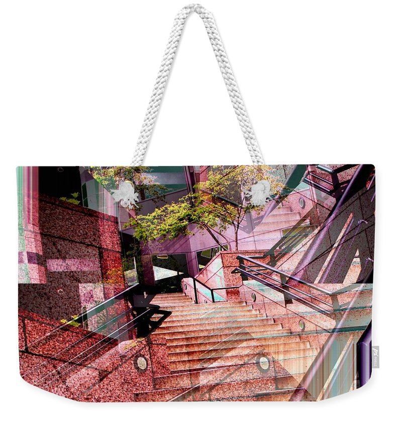 Stairs Weekender Tote Bag featuring the photograph Which Way Up by Tim Allen