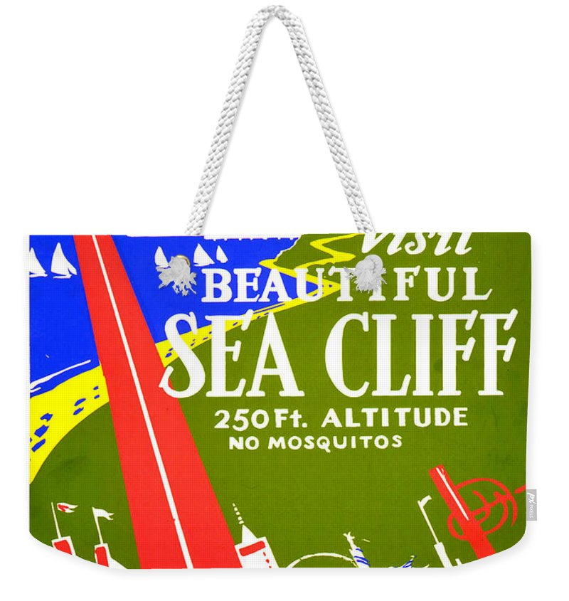Worlds Fair Weekender Tote Bag featuring the painting While In Worlds Fair, Visit Sea Cliff by Long Shot